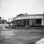 Elannon uusi Pasilan liiketalo, jossa oli sekatavara- ja leipämyymälä. Hertankatu 15 (= Pasilan puistotie, Hertanmäki)